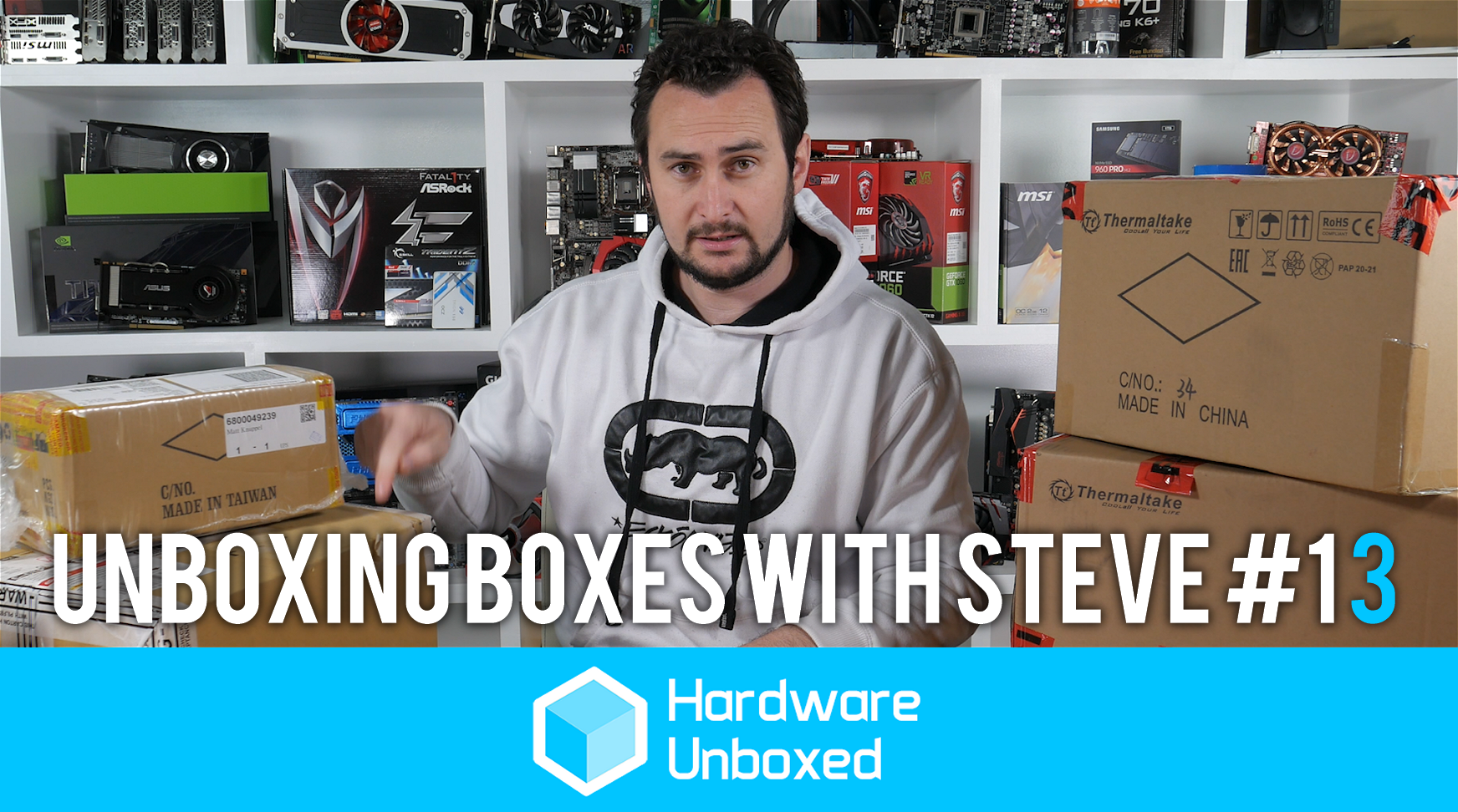 Unboxing Boxes with Steve #13: We have it all, audio, storage and a ship load of PSU's!